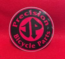 "NOS VINTAGE JP PRECISION BICYCLE PARTS 3"" ROUND BMX STICKER"