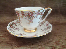 Vintage Queen Anne Bone China England Tea Cup and Saucer Pattern 5747