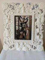 Disney Parks Mickey and Friends Sculpted Large White photo Frame