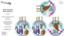 4x Avon Xmas Bath & Body Wash Baubles Merry Little Plum/Jolly Holly Berry 250ml