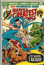 Marvels Greatest Comic #48 8.0 SS JOE SINNOTT Fantastic Four Jack Kirby Not CGC