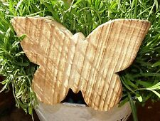 "Deko-Schmetterling Holz""Struktur""14x10cm Shabby Landhaus Butterfly rustikal"