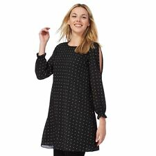 Debenhams Collection Spot Cold Shoulder Mini Tunic Dress 6 Petite BNWT RRP £35