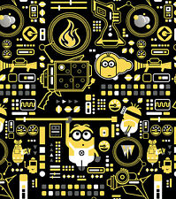 Minions Control Despicable Me Universal Studio 100% cotton fabric by the yard