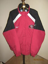 """49ers Jacket Mens XL (NEW) WARM """"Reebok Pro Line"""" All Fans - Red, Black & White"""