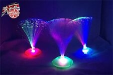 LED MULTI COLOR FIBRE OPTIC FOUNTAIN CALMING MOOD CHANGING NOVELTY LAMP