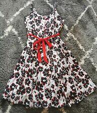 Joe Browns Size 24 Black Red Floral Summer Dress