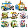 Baukästen Sembo Verkauf Autohaus Gebäude Figur Spielzeug Geschenk Modell Kind