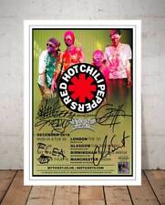 RED HOT CHILI PEPPERS THE GETAWAY TOUR 2016 CONCERT FLYER AUTOGRAPH PHOTO PRINT