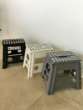 Pack of  3 Pcs  New Folding Plastic Kitchen Step Stool w/ Handle - Adults/Kids