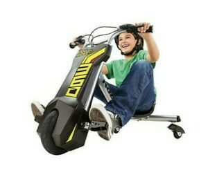 Kids Razor 360 Three Wheels Electric Power Rider  Black Yellow Age 8+ Years