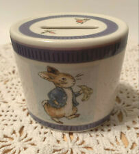 Wedgwood Classic Peter Rabbit Child'S Ceramic Bank Gently Preowned