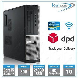 Dell Optiplex PC Intel Quad Core i5 3.20GHz 8GB RAM 240GB SSD Windows 10 Desktop
