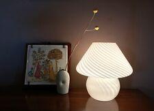 1970's Vintage Vetri Murano Large Mushroom Swirl Glass Lamp