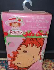 Strawberry Shortcake NEW Toddler Fitted Sheet + Pillowcase Set Berry Cool Pink