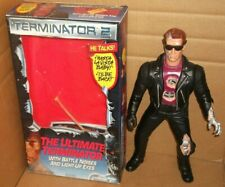 """1992 Terminator 2 Ultimate 13"""" Action Figure Battery electronic Works W/Box"""