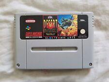 DESERT STRIKE RETURN TO THE GULF Super Nintendo SNES game UK PAL Version