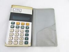 Canon Palmtronic LD-8Ms hand held pocket calculator WORKS w/case