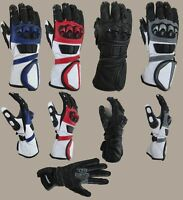 Motorcycle Cowhide Leather Racing Motorbike Gloves Red Excellent Quality Red