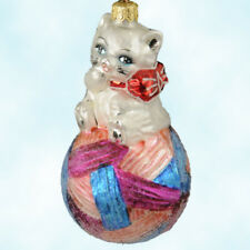 Christopher Radkos Kitty Cares Ornament 1997 Pediatric Cancer Charity MintwBox