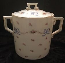 Antique 19C ~Altrohla Austria~ Covered Porcelain Biscuit Jar