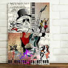 Unframed Canvas Prints Home Decor Wall Art Picture-rock Music Dance Poster