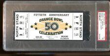 1984 Orange Bowl Full Ticket Nebraska Cornhuskers v Miami Hurricane Champs PSA