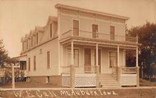 Real Photo Postcard W.E. Call Home in Mt. Auburn, Iowa~114296