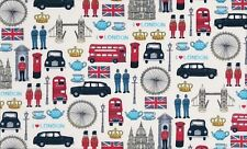 MAKOWER PATCHWORK FABRIC - LONDON ICONS - 981