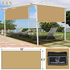 18' x 8.3' Universal Replacement Canopy Top Cover for Pergola Structure Beige