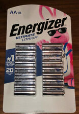 Energizer Ultimate Lithium AA Batteries 18 Pack EXP 12/2039 New Free Shipping!
