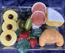 Faux Fake Food Cheese Fruit Bread Tray Table Store Display Home Stage Movie Prop