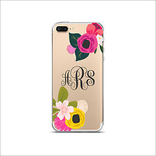 Clear Transparent Cell Phone case Monogram iPhone X/XS Max XR 11 Pro & Max