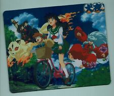 "InuYasha Mouse Pad - Great gift! ""Sunny style"" Bonus 2 pins/buttons"