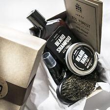 Big Forest Beard Grooming Kit: Beard Growth Shampoo, Beard Oil, Balm & Brush