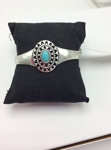 Lucky Brand Turquoise Simple Cuff Bracelet 814a