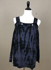 Rock & Republic Women's Sweater Cold Shoulder Black Blue Long Sleeve Sz Medium