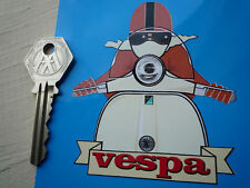 Vespa Cafe Racer Scooter de estilo pegatinas marrón y crema Gt Gs Gl Lx Ss et Pk Px T5