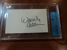 WOODY ALLEN -  Signed Autographed 3x5 Index Card - BECKETT JSA AUTHENTIC