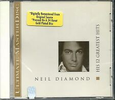 Diamond, Neil His 12 Greatest Hits MCA 24 Karat Gold CD Neu OVP Sealed OOP