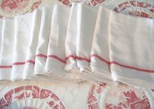 Cotton Dish Flour Sack Kitchen 10 Towels French Stripe Dinner Napkins Hotel BBQ