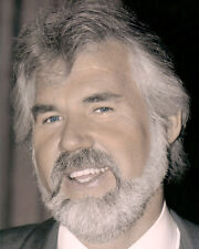KENNY ROGERS COUNTRY WESTERN SINGER SONGWRITER 8x10 HAND COLOR TINTED PHOTOGRAPH