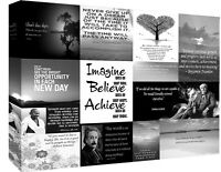 Motivation Quotes Black & White Canvas Wall Art  Picture 100% cotton - All sizes