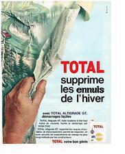 PUBLICITE ADVERTISING  1960  TOTAL  altigrade   GT huiles