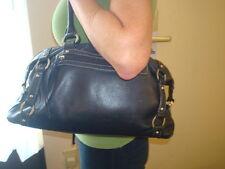 Tignanello Black Pebbled Leather Shoulder Bag / Purse / Satchel