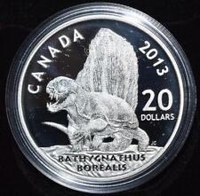 2013 Canadian Dinosaurs : Bathygnathus Borealis 0.999 1oz Fine Silver Proof Coin
