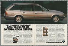 1993 BMW 525 wagon 2-page advertisement, BMW 525i Touring station wagon