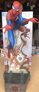 Sideshow Spider-Man J Scott Campbell Comiquette Statue 1587/3500 Signed Stan Lee