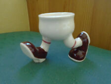 VINTAGE WALKING RUNNING WARE EGG CUP - BROWN SHOES - CARLTON LUSTRE WARE