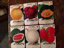 Unused seed packets package ORIGINAL 1930's SAN ANTONIO TEXAS S02 Fruits veggies